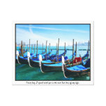 Venice Gandola with Love Quote Stretched Canvas Prints