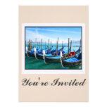 Venice Gandola with Love Quote Custom Invitation
