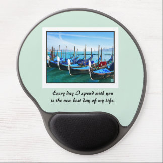 Venice Gandola with Love Quote Gel Mouse Pad