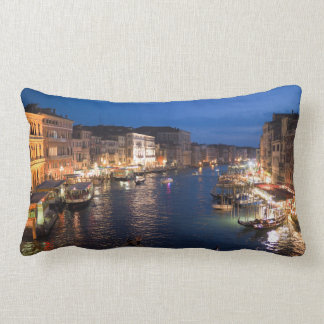 Venice Gandolas Italy Night Scenery Lumbar Cushion