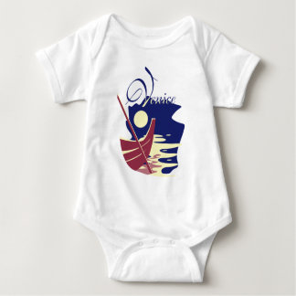 Venice Gondola Baby Bodysuit