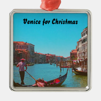 Venice Gondola Christmas Ornament