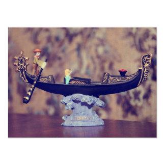 Venice gondola decoration 6.5x8.75 paper invitation card