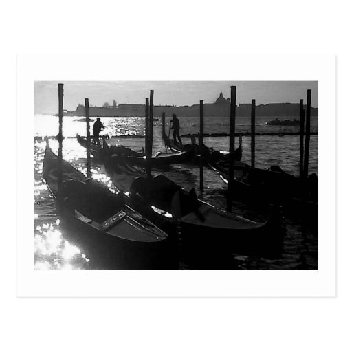 Venice Gondola in the Grand Canal Post Card