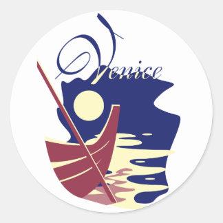 Venice Gondola Round Sticker