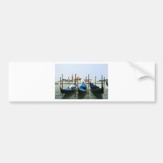 Venice gondolas bumper sticker