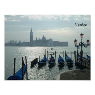 Venice Gondolas on the Grand Canal Large Poster