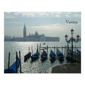 Venice Gondolas on the Grand Canal Small Poster