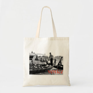 VENICE GONDOLERS ON THE GRAND CANAL TOTE BAG
