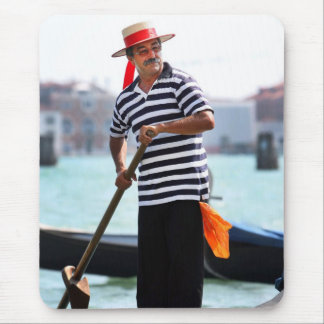 VENICE GONDOLIER WITH HIS HAT MOUSE MAT