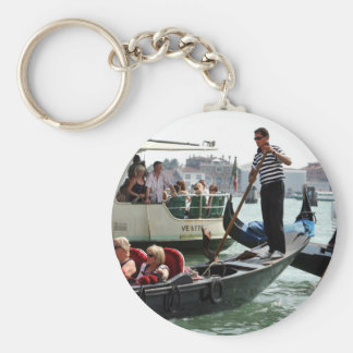 VENICE GONDOLIERS ON THE GRAND CANAL KEY RING