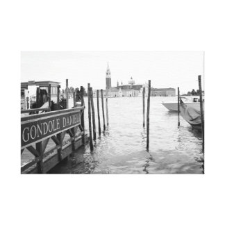 Venice Grand Canal and Gondola Stretched Canvas Print