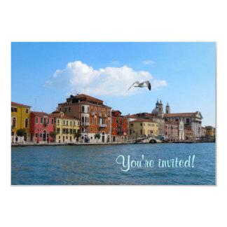 """Venice Grand Canal invitation 3.5"""" X 5"""" Invitation Card"""