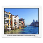 Venice Grand Canal with Love Quote
