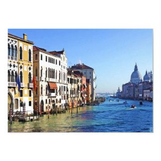 Venice Grand Canal with Love Quote 13 Cm X 18 Cm Invitation Card