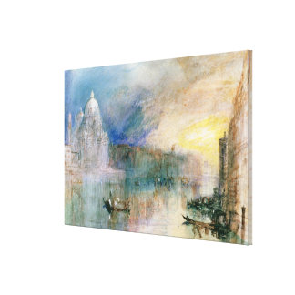 Venice: Grand Canal with Santa Maria della Salute Canvas Print