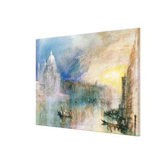 Venice: Grand Canal with Santa Maria della Salute Gallery Wrap Canvas