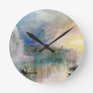 Venice: Grand Canal with Santa Maria della Salute Round Clock