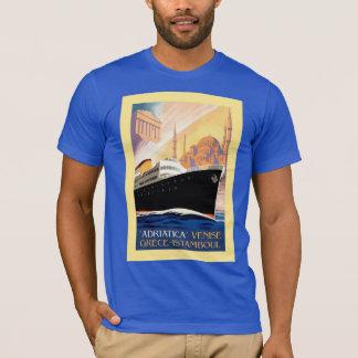 Venice Greece Istanbul shipping line retro vintage T-Shirt
