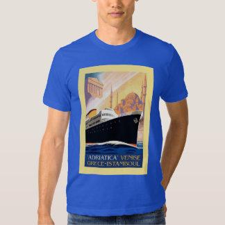 Venice Greece Istanbul shipping line retro vintage Tshirts