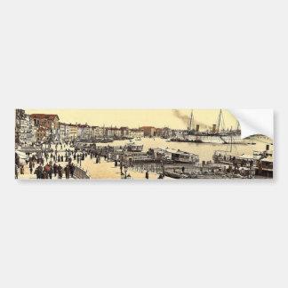 Venice harbor and Palazzo dei Dogi, Venice, Italy Bumper Sticker