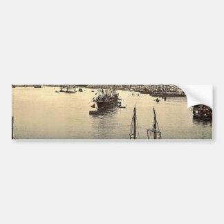 Venice harbor, Venice, Italy classic Photochrom Bumper Stickers
