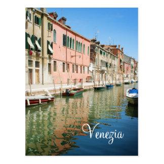 Venice houses postcard
