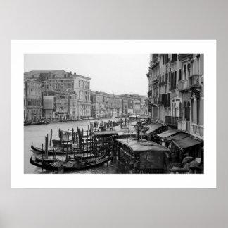 Venice in B&W Poster