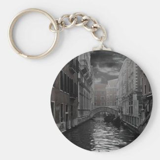 Venice in Black and White Key Ring