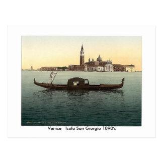 Venice   Isola San Giorgio 1890's Postcard