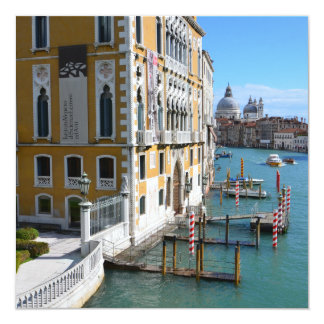 Venice Italy 13 Cm X 13 Cm Square Invitation Card