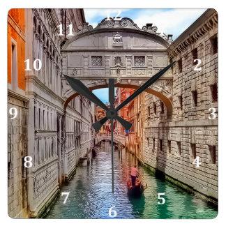 Venice, Italy (2).jpg Square Wall Clock