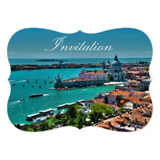 Venice, Italy - Aerial View 13 Cm X 18 Cm Invitation Card