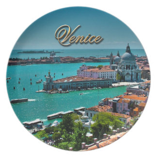 Venice, Italy - Aerial View Plate
