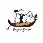 Venice Italy Bride Postcard