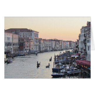 Venice, Italy Canal at Sunset Note Card