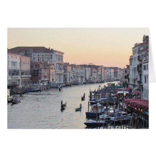 Venice, Italy Canal at Sunset Stationery Note Card