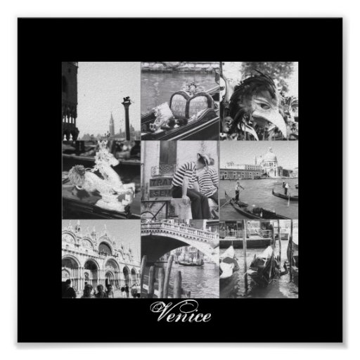Venice Italy Collage Fine Art Print Poster
