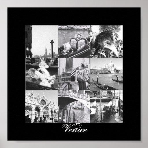 Venice Italy Collage Fine Art Print Poster