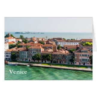 Venice Italy cruise mediterranean architecture Card