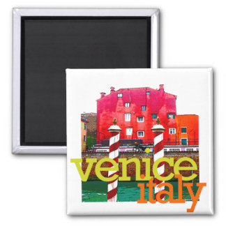 Venice Italy Gifts Square Magnet