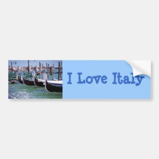 Venice Italy Gondola Boats ~ Italian Romance Bumper Stickers