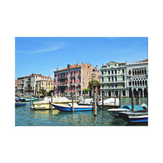 Venice Italy Gondola Grand Canal Photo Canvas Gallery Wrap Canvas