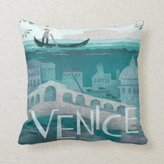 venice Italy Gondola travel vacation retro Cushion
