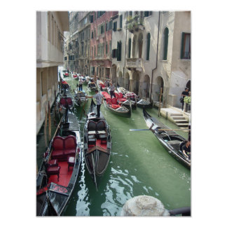 Venice Italy Gondolas Poster