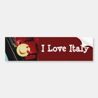 Venice Italy Gondoliers Hat ~ Italian Romance Bumper Stickers