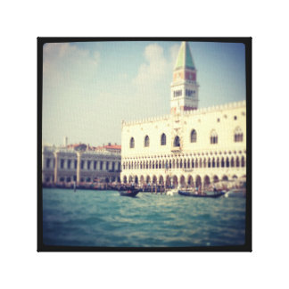 Venice Italy grand canal photograph on canvas Canvas Print
