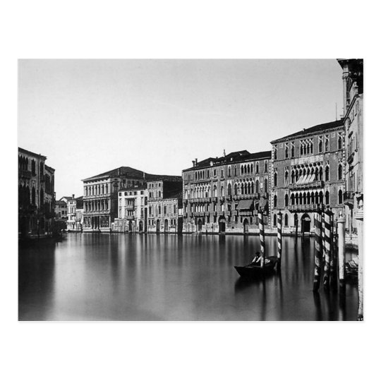 Venice Italy Grand Canal - Vintage Photo 1875