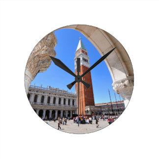 Venice, Italy Round Clock
