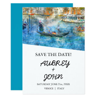 Venice Italy Save the Date Wedding Invitation